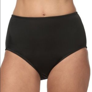 Maxine of Hollywood black High Waist Bikini Bottom